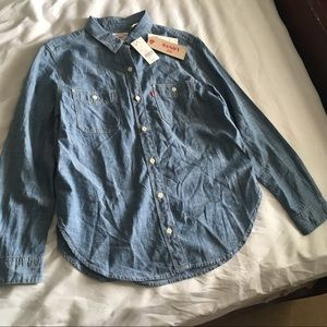Levi's Boyfriend Fit Chambray Top